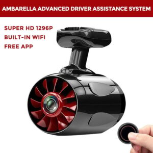 1296P Super HD Dashboard Camera And Built-in WiFi with APP In Black
