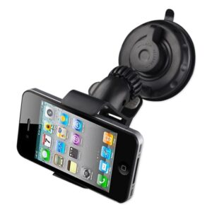 Reiko 360° Universal Suction Cup Window Phone Holder in Black