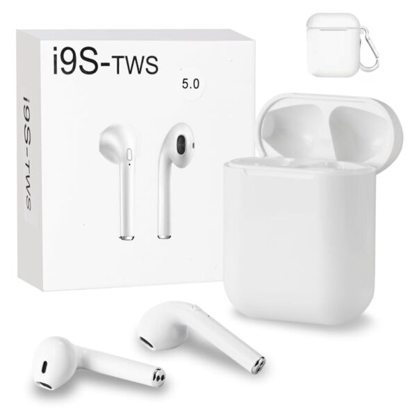 Wireless Headset Bluetooth 5.0 Headphones Stereo Twin Earbuds I9s-tws In White